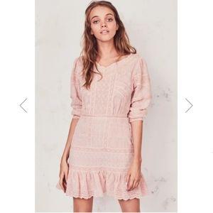 NWT LoveShackFancy Cheri Eyelet Mini Dress Melrose